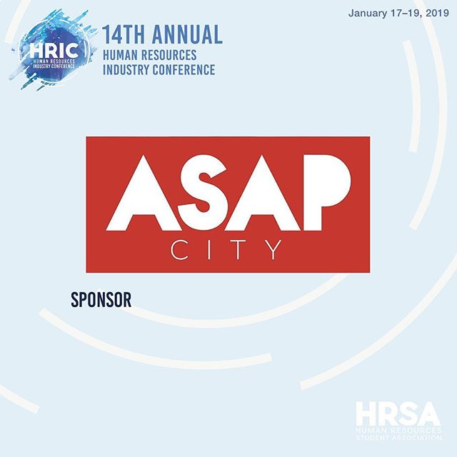 A special thank you to our sponsor @asapcity for providing our delegates with inkind for #hric2019! #ryersonhrsa