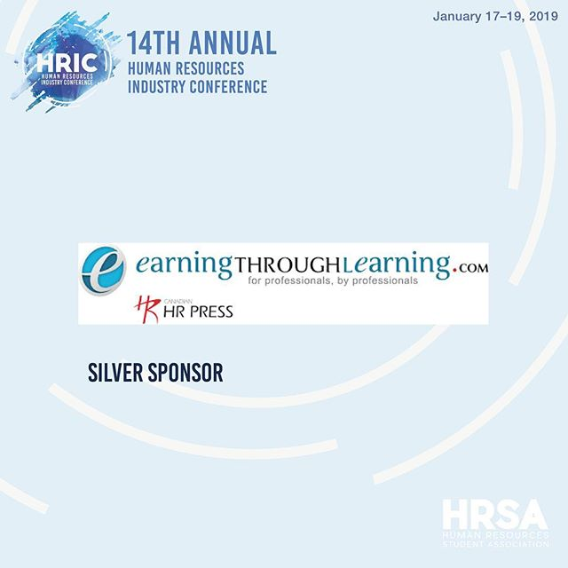 Thank you to our silver sponsor, earningthroughlearning.com for contributing to HRIC 2019! Earning through Learning is an online, Canadian source for internationally recognized professional development via their affiliates eCornell and London School of Business & Finance. They provide helpful resources for HR exams and some of their knowledge areas include: Human Resources Management, Leadership, Strategy and Global Management, Finance, Economics, Risk Management and many more!  Countdown to HRIC begins! January 17-19, 2019 #HRIC2019 #ryersonhrsa