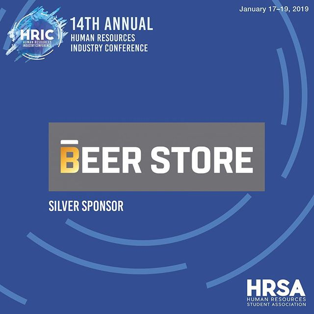 Thank you to our silver sponsor The Beer Store for contributing to HRIC 2019! The Beer Store is a Canadian privately owned chain of retail outlets selling beer and other malt beverages in the province of Ontario, Canada.  Stay tuned as we reveal more exciting news!  January 17-19, 2019 #HRIC2019 #ryersonhrsa