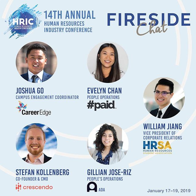Get to know these individuals during our Fireside Chat Friday Night at HRIC. Delegates will get the opportunity to learn about the speaker's experiences as well as ask questions and receive tips!  Stay tuned as we reveal more exciting news!  January 17-19, 2019 #HRIC2019 #ryersonhrsa