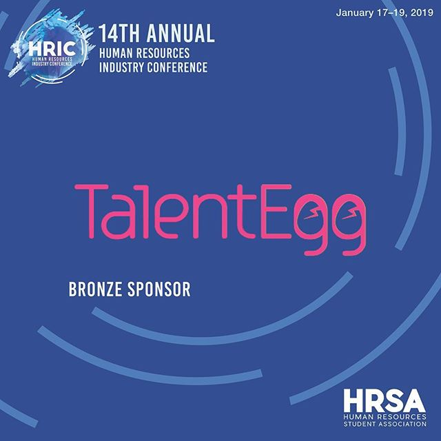 Thank you to our bronze sponsor TalentEgg for contributing to HRIC 2019! @talentegg  TalentEgg is a career resource that specializes in providing students and recent graduates with entry-level jobs, internships and co-op programs in Canada.  Stay tuned as we reveal more sponsors!  January 17-19, 2019 #HRIC2019 #ryersonhrsa