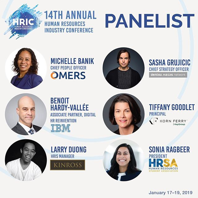 Introducing our panelists for our 14th annual Human Resources Industry Conference - HRIC! Stay tuned as we reveal more speakers! January 17-19, 2019
