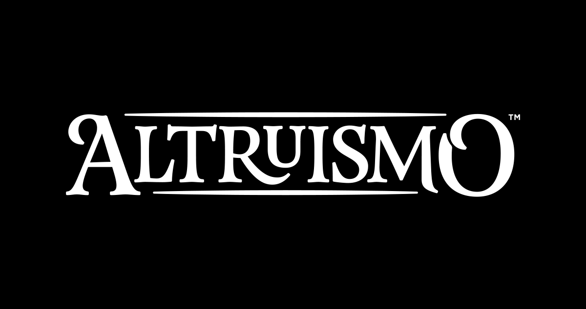 Altruismo's Name - Comes in white or black text.↓ Download EPS | ↓ Download PNG