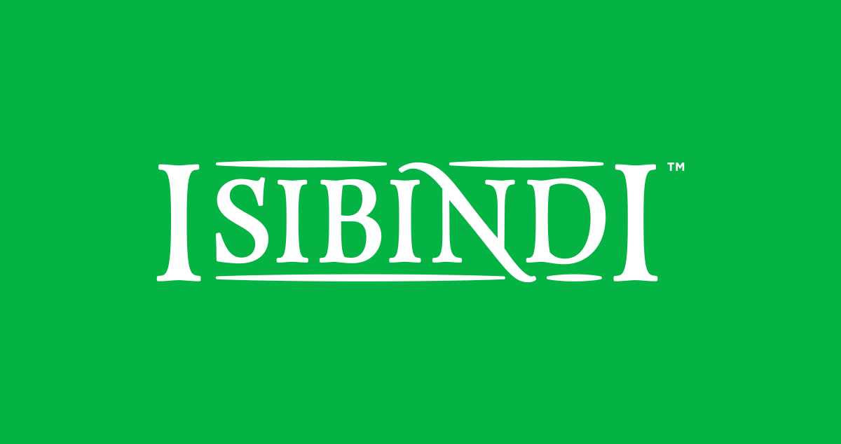 Isibindi's Name - Comes in white, black or green text.↓ Download EPS | ↓ Download PNG