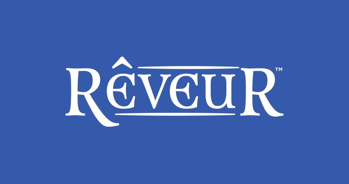 Rêveur's Name - Comes in white, black or blue text.↓ Download EPS   ↓ Download PNG