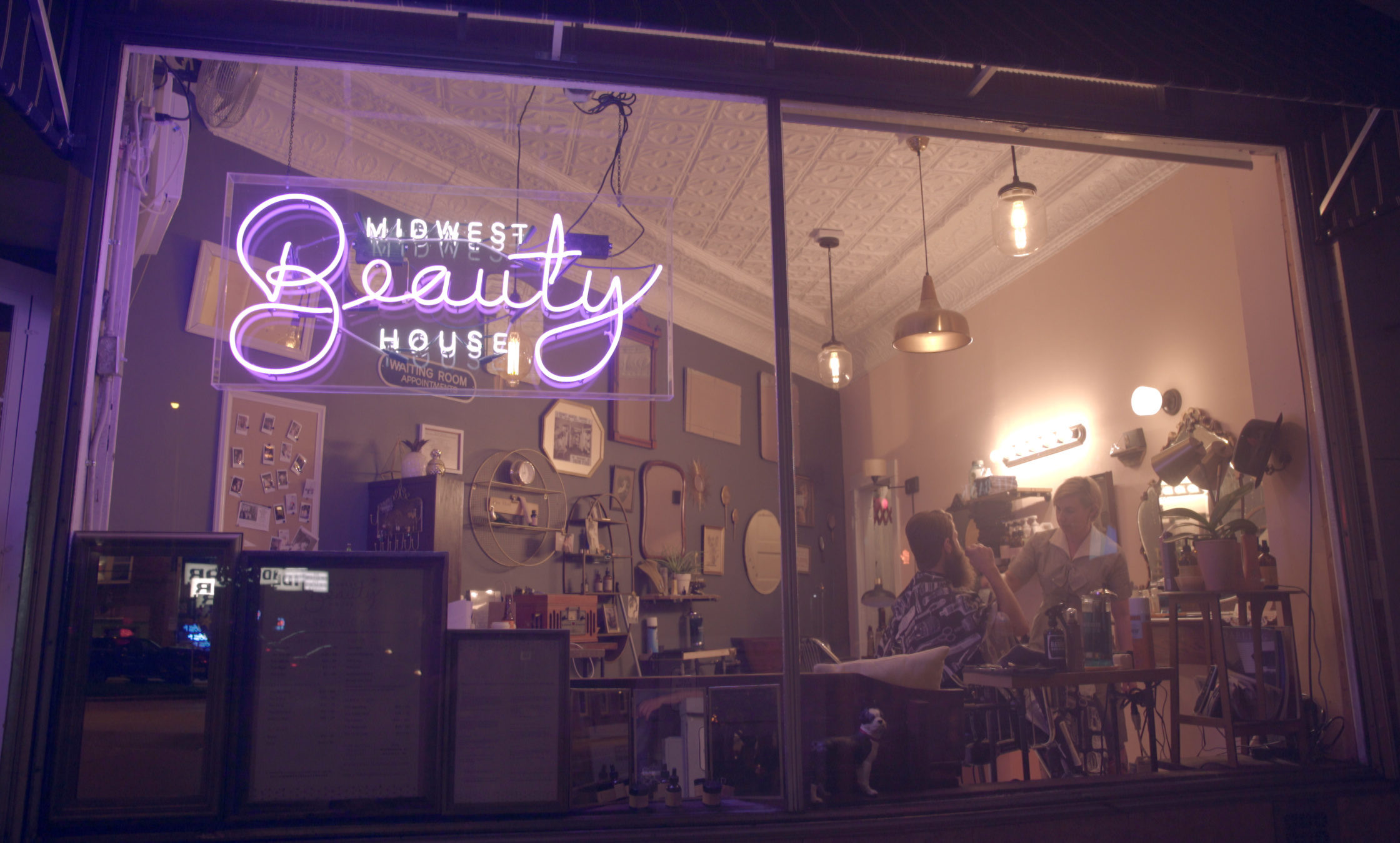 Midwest Beauty House is a classic beauty/barber shop experience with a modern salon focus. -