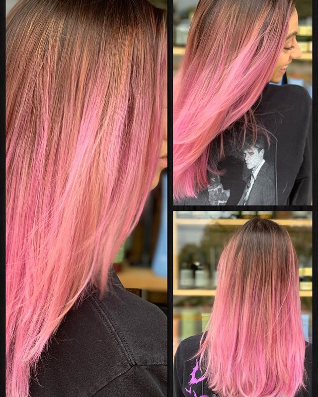 Making beautiful people happy 😍 🐌 🐌 🐌 #staino #evo #midwestbeautyhouse #betterbeautyculture #madisonwi #hair #pink #rosegold