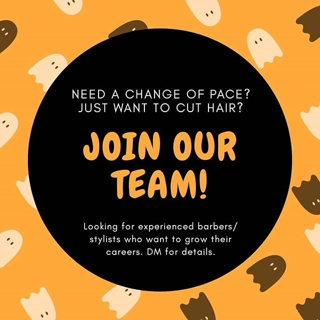 Happy Halloween month! We're looking for someone who wants to focus on haircutting services at the Winnebago location. #haircutsinmadison #madisonwistylist #madisonwibarber #madisonwihairstylist #midwestbeautyhouse @midwestbeautyhouse