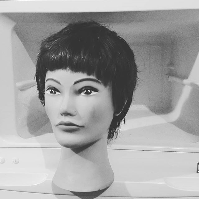Cool mannequin haircut collab with @hack.j0b