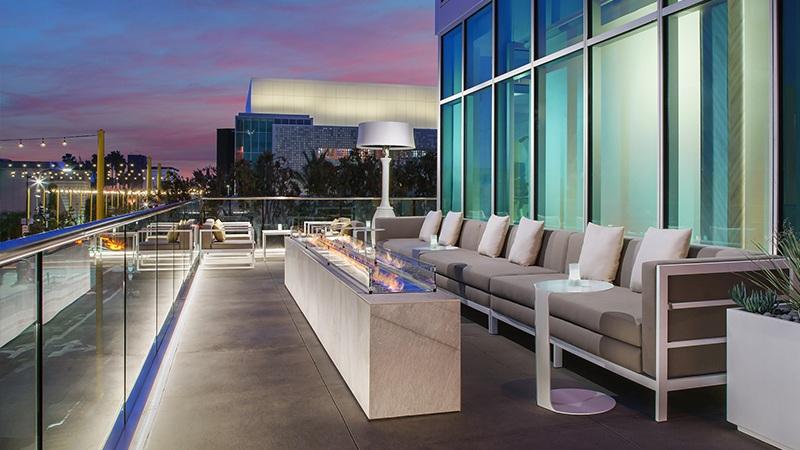Terrace of Courtyard by Marriott, Santa Monica