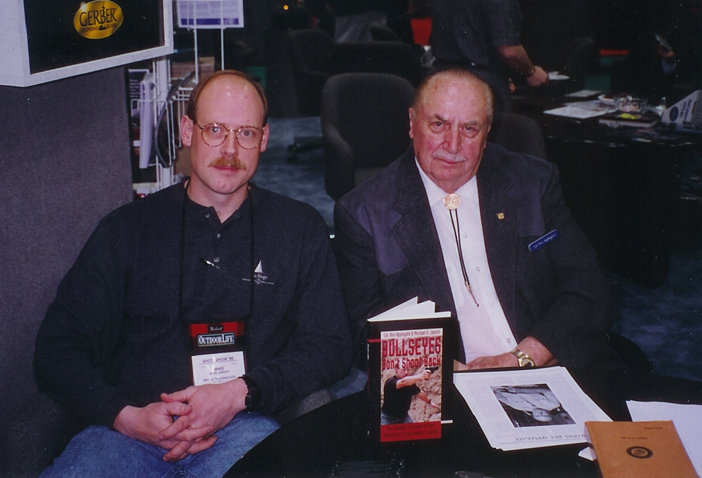 Michael Janich with his mentor, the late close-combat legend Col. Rex Applegate. Together, they co-authored  Bullseyes Don't Shoot Back,  the definitive work on Applegate's method of handgun point shooting.