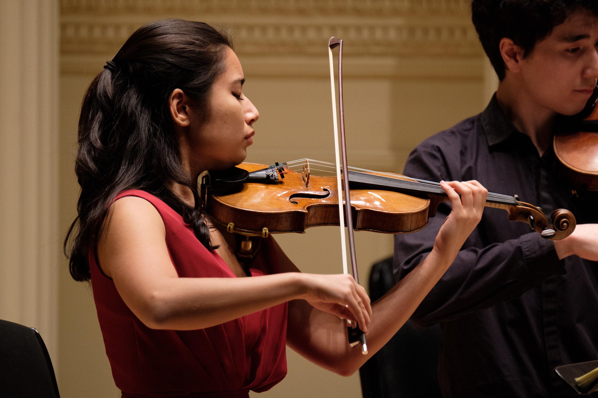 Young Artist-in-Residence Hana Mundiya, violin