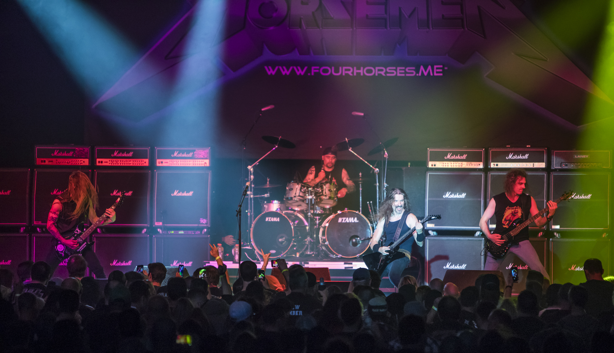The Four Horsemen - Maybe you haven't heard of us.  Maybe you have and want to know more.  We are musicians with a love of the thrash metal era.  The 80's music that changed the game. If you want to see a show that is truly electric, if you want to hear the songs played correctly and with ferocity.. and you want to be the most important aspect of that show - you need to be where we are live.  Our fans are the only reason we exist.  Our fans are - simply put: Thrash Metal Metallica Fans.  The best in the world.  We take the music, the sound, the energy and our crowd seriously.  Few tribute bands pay close attention to the precision and dynamics of the band they tribute.  There is no glossing over parts when it comes to our band.  You will hear EVERY blistering fast double bass drum line, all the technical drum fills, guitar harmonies, solos, bass guitar shredding and gutteral vocals you heard on the albums.  We don't look like anyone in Metallica, our singer sings with grit but does not sound exactly like James.  But we  pride ourselves in being nearly album quality in delivery while putting on a very lively stage performance.  We are utterly decimated at the end of the night.  Drenched in sweat, blisters and a ton of gear to break down but we never complain.  Most live shots are blurry because we are always moving and thrashing.  Proud of those 'bad' pics.  Means we are doing our job right.