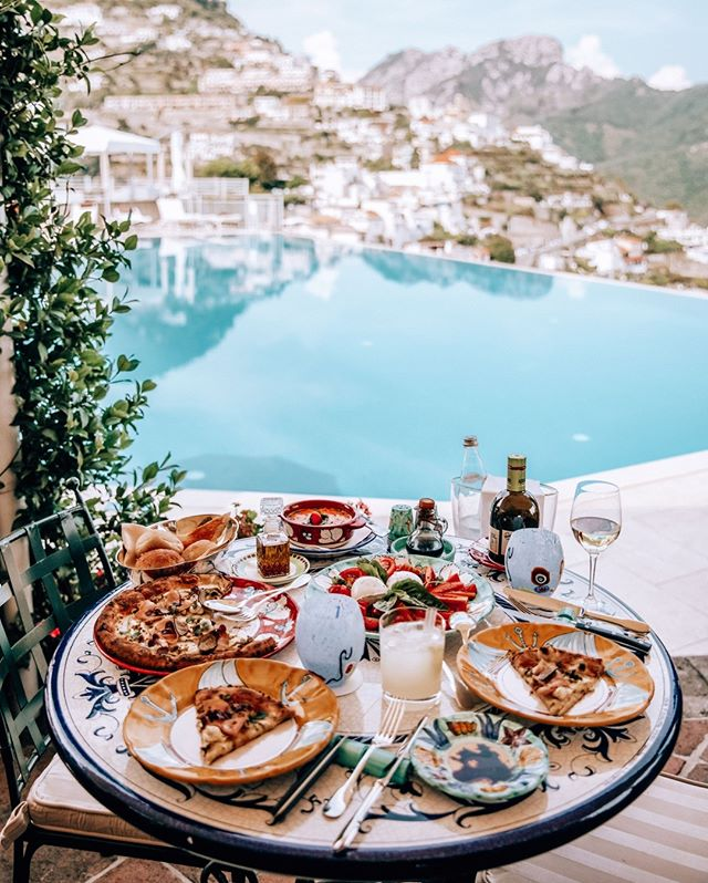 That Almalfi Coast isn't only for summer travel. Enjoy this lunch view at @belmondhotelcaruso during the fall months when temperatures are a little cooler and the beaches are less crowded.