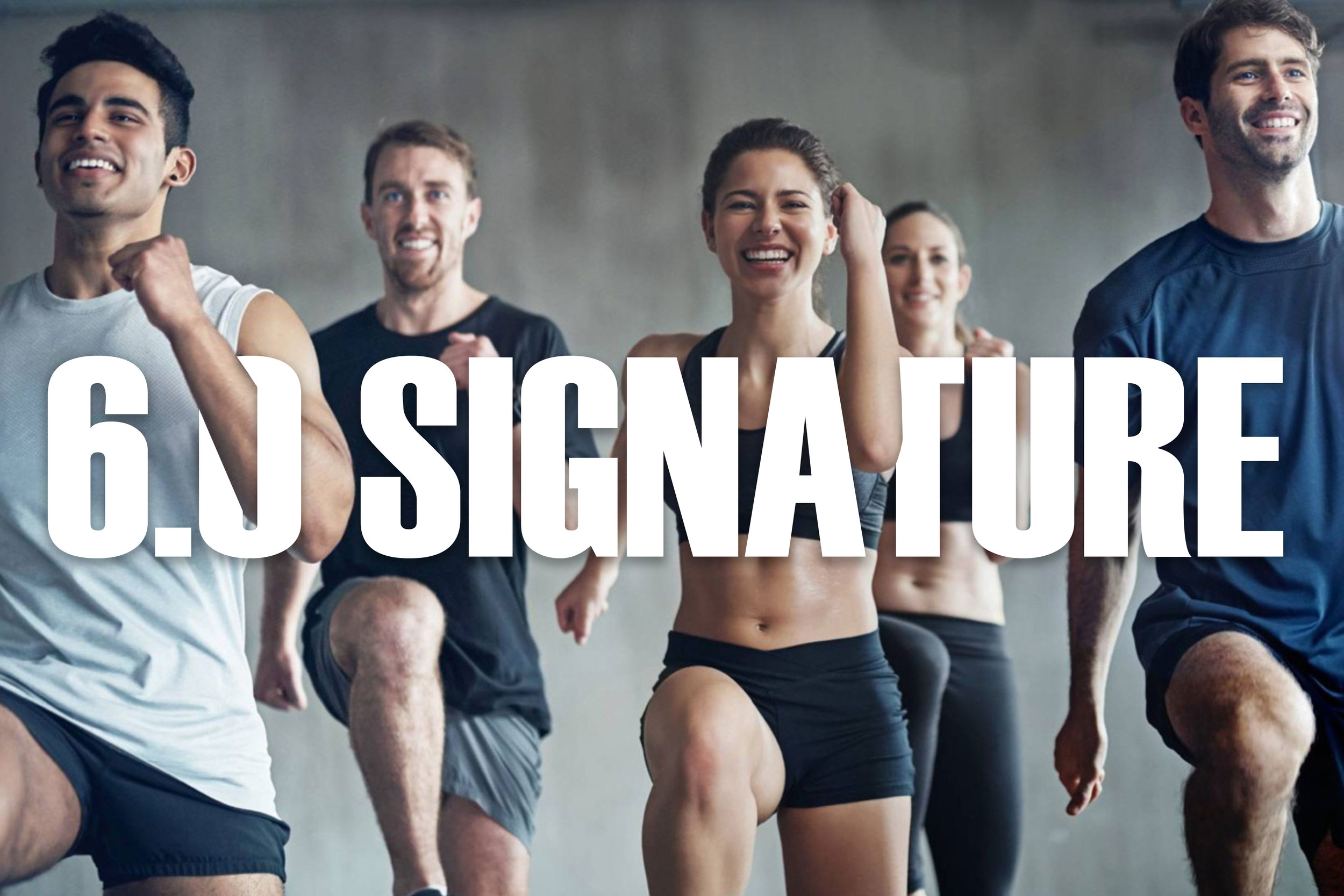6.0 Signature - *ONLY offered SaturdayOur 6.0 Signature class is our only one hour long class and is set to the beat of a LIVE DJ. Just like our 6.0 Fit class this class consists of cardiovascular conditioning, strength training, stretching and kickboxing.