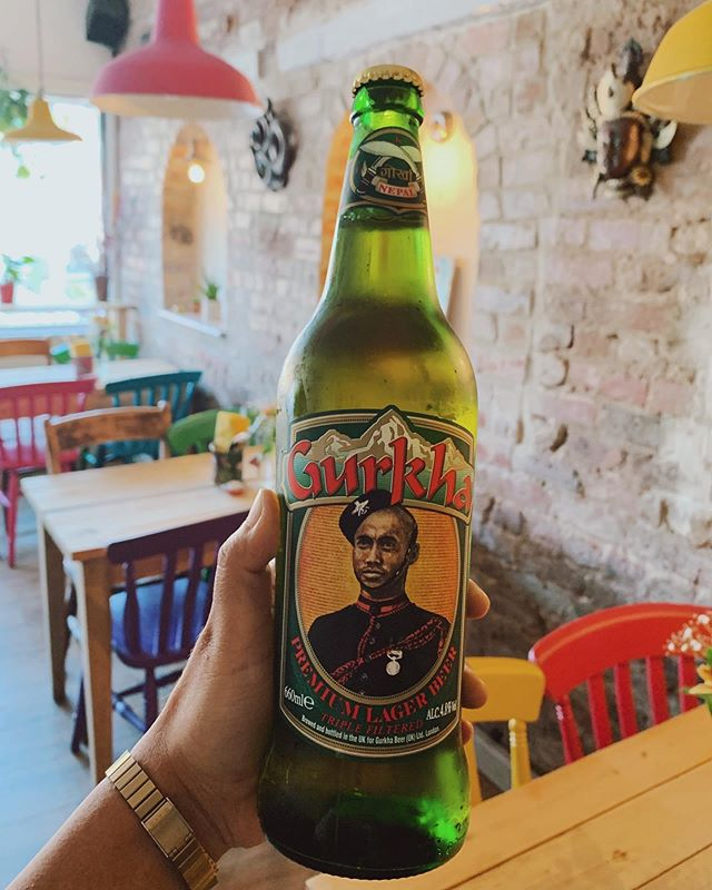 Feeling sweaty? Me too. Come and cool down with an ice cold Gurkha boi.  #chorlton #chorltonfood #streetfood #manchesterfood #chorltonbars #nepal #nepalesebeer #nepalesestreetfood #momo #thelittleyeti #beer #refreshing #summer