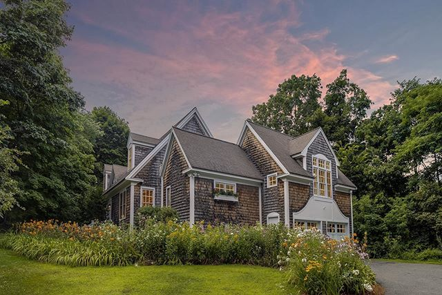 Loved the design of this Nantucket style single family home shot last night in West Newbury.  #architecture #design #home
