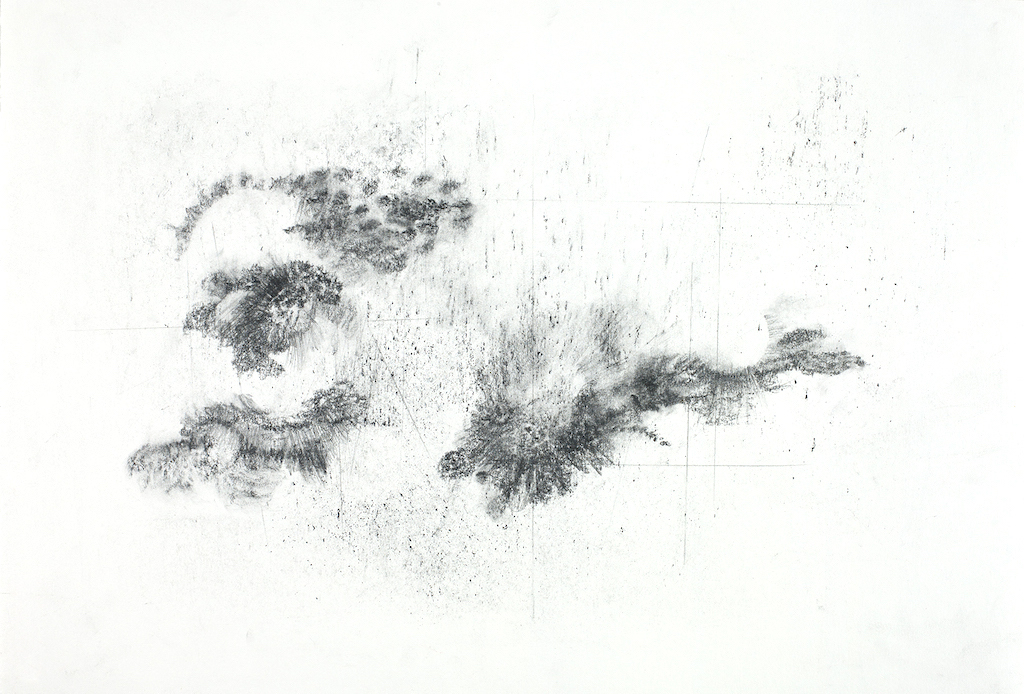 Floating Worlds  series, graphite on paper, 15 x 22 inches