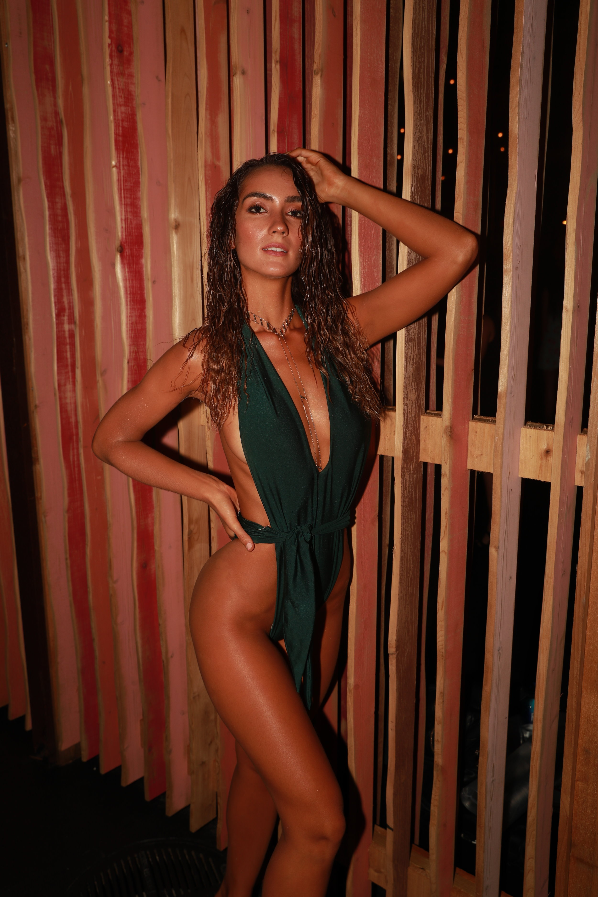 Priscilla Ricart in the Thunder one piece in Amazon - Click image to shop look