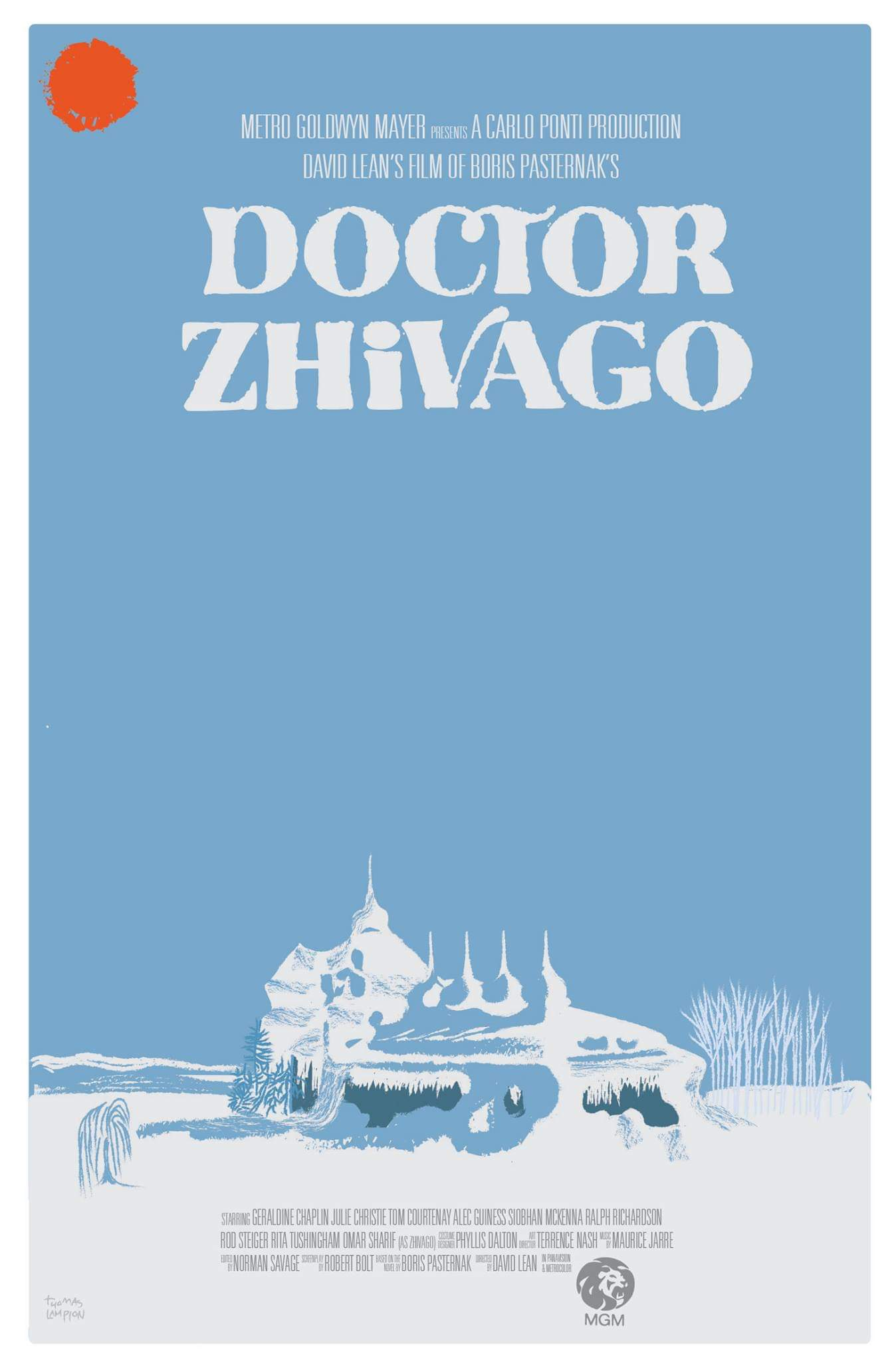 Movie Poster for Doctor Zhivago   Digital; 2018