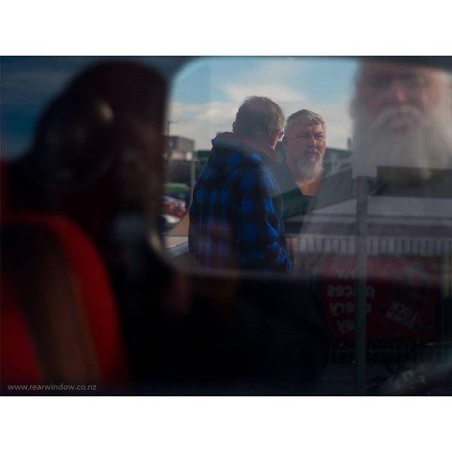 Rear Window. ____________________________ 📸: Jocelyn Janon©️2019 -www.jocelynjanon.com-#rearwindow.  ____________________________  Prints available on:  www.rearwindow.co.nz (check link in bio) . . . . . . . . . . . . . . . . . . .  #beard #car #autoportrait #red #saul #composition . . . . #story#fineartphotography #prints