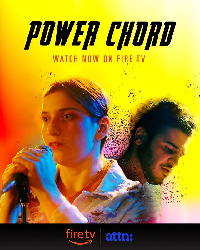 I am so excited to say @alessandroc & team's (tagged on the photo) new short film Power Chord is playing at the Dolby Theater in SoHo (NYC) today through Sunday from 1-8PM. It plays every 45 minutes & it's FREE. Surround sound. Super comfortable seating. Aaaand has free popcorn. It's just so darn good & I have the privilege of having a singing part during the film *acted by the super talented @friendlior*, as well as a song of mine & Alessandro's during the outro credits. Check it out if you're in the area! | Link to the film is in my bio if you want to watch it via Amazon on your phone before seeing it in theaters.