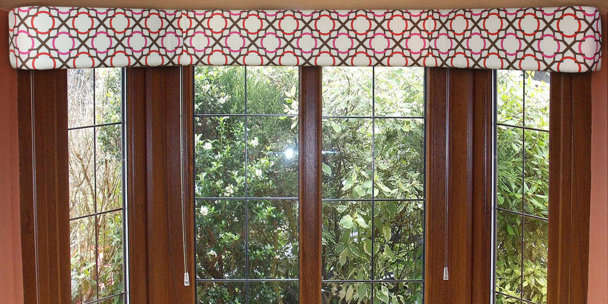 Want a modern/contemporary look? Your choice of fabric creates the style of the cornice.