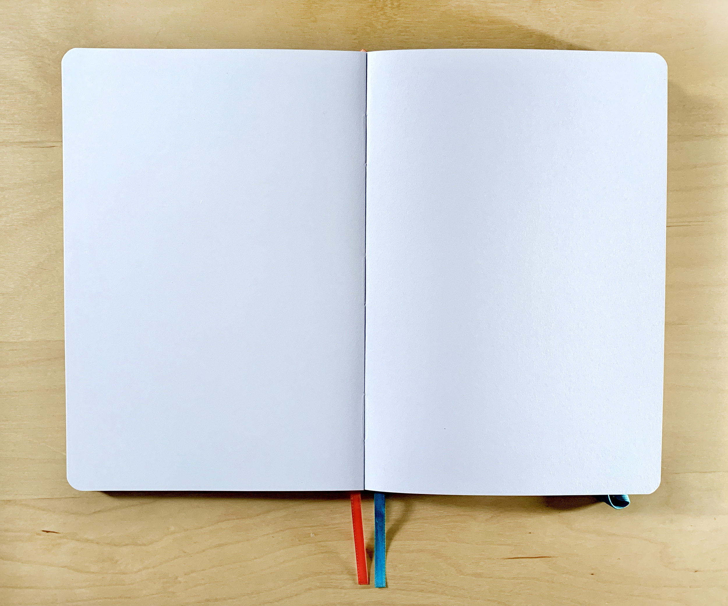 Lay-flat binding means you can use every inch of the page.