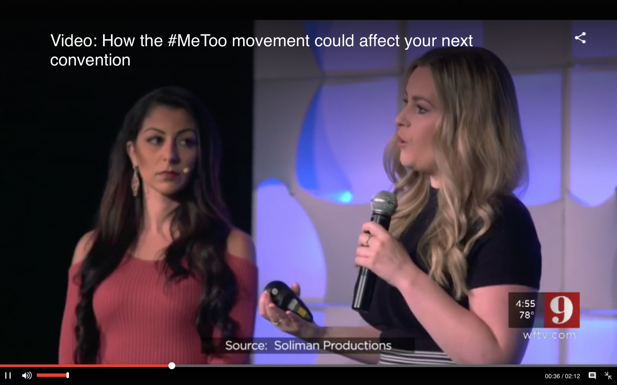 VIDEO: How the #MeToo movement could affect your next convention | Orlando WFTV9