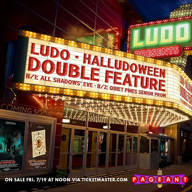 """We're back… again. @1057thepoint Presents… HalLUDOween 2019 November 1st and 2nd. The Pageant - St. Louis, Missouri. Two shows. Two themes. We will also take over Suite 100 at The Pageant for the entire weekend to bring you """"Ludoland."""" Ludoland will feature the Ludo merchandise store… and a whole lot more to be announced soon. Expect pop-up events and appearances throughout the weekend. Things could happen from Thursday night through Sunday. Buy tickets for Saturday's show and you'll have the option at checkout to buy tickets for the """"Somewhat Awkward V.I.P. Sing-along and Acoustic Performance"""" which takes place Saturday afternoon. VIP's recieve: - T-shirt - Poster - Meet and greet - Toothbrush - MORE!  Tickets on sale Friday July 19th at 12pm CT online and at The Pageant box office - 4 ticket limit per person - VIP sales online only"""