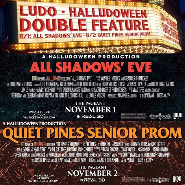 Two shows. One story. No popcorn. All weekend.  Tickets Friday. Shadows eternal. #halludoween
