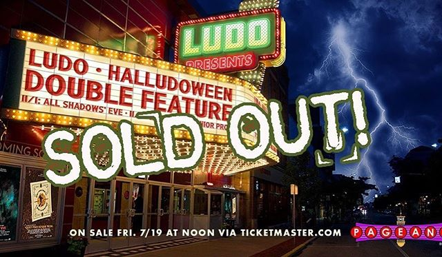 Thank you from all 4 of us. If you didn't get tickets... hold off on buying from a third party! Hope to have some news soon! #halludoween