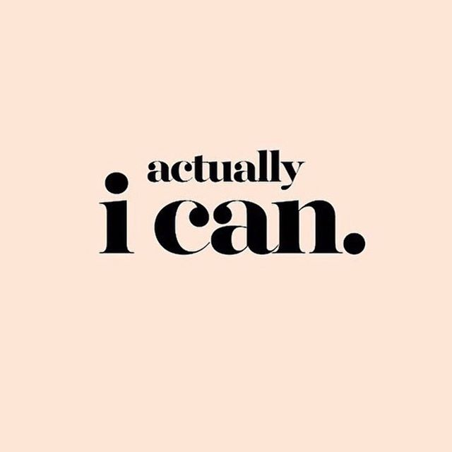 Monday BRAIN RETRAIN... when your thoughts say I can't, remind them out loud... actually, I can✨ (image via @stylecollective_ )