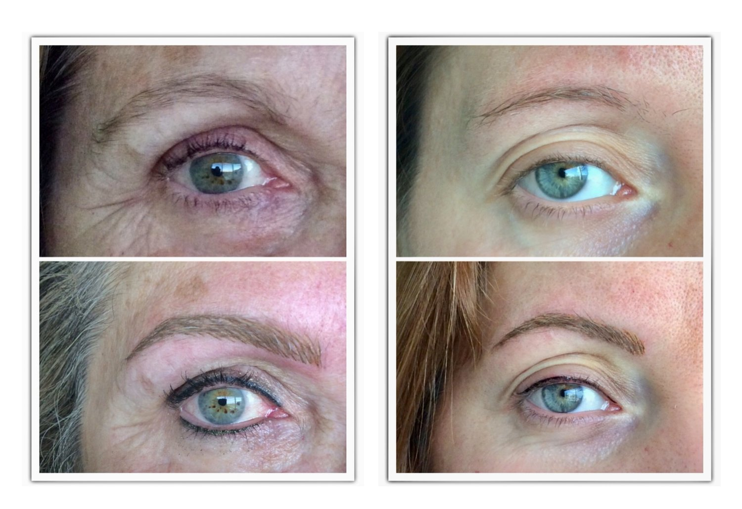 With a simple thickness of eyelashes, without lengthening the line too much, we see an important change in brightness and rejuvenation in the look.