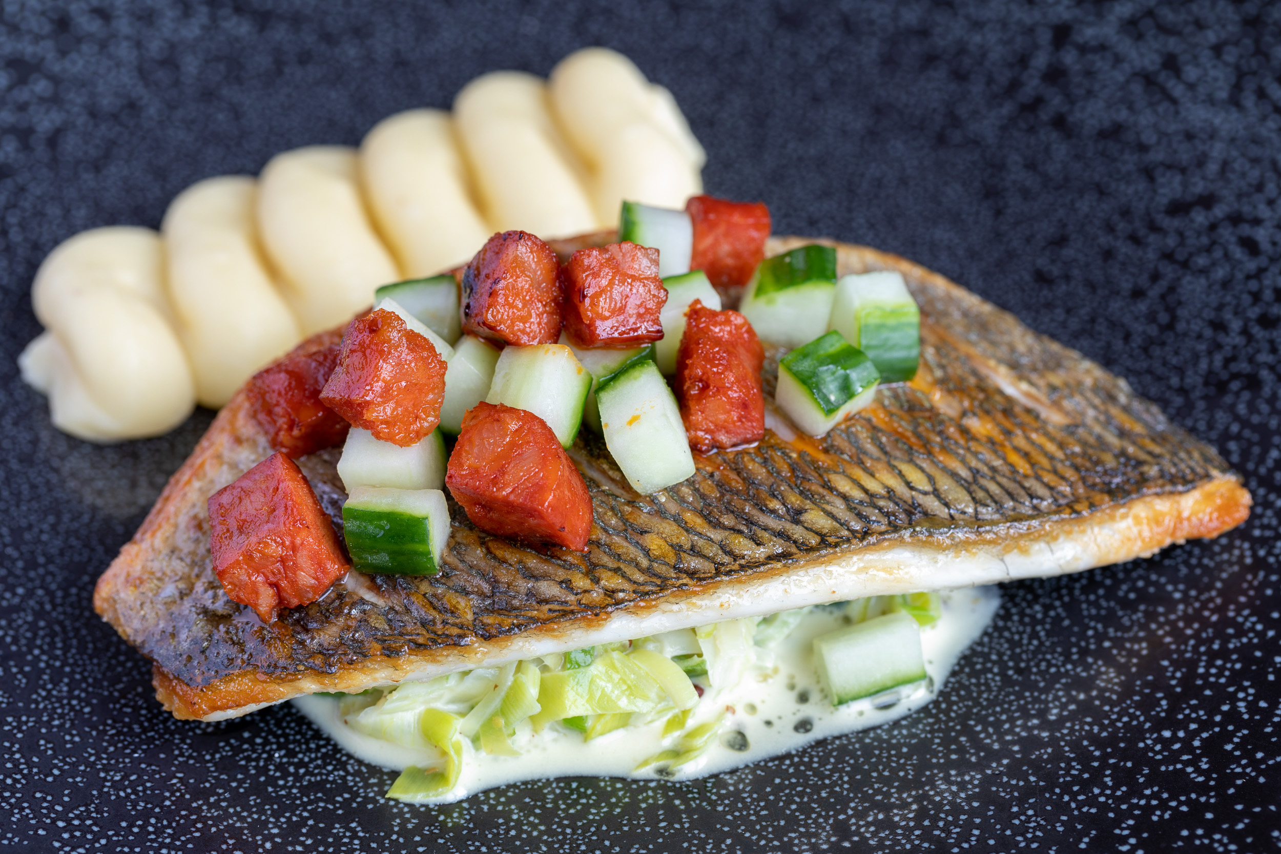 Fish Food Photography at Restaurant in Wiltshire