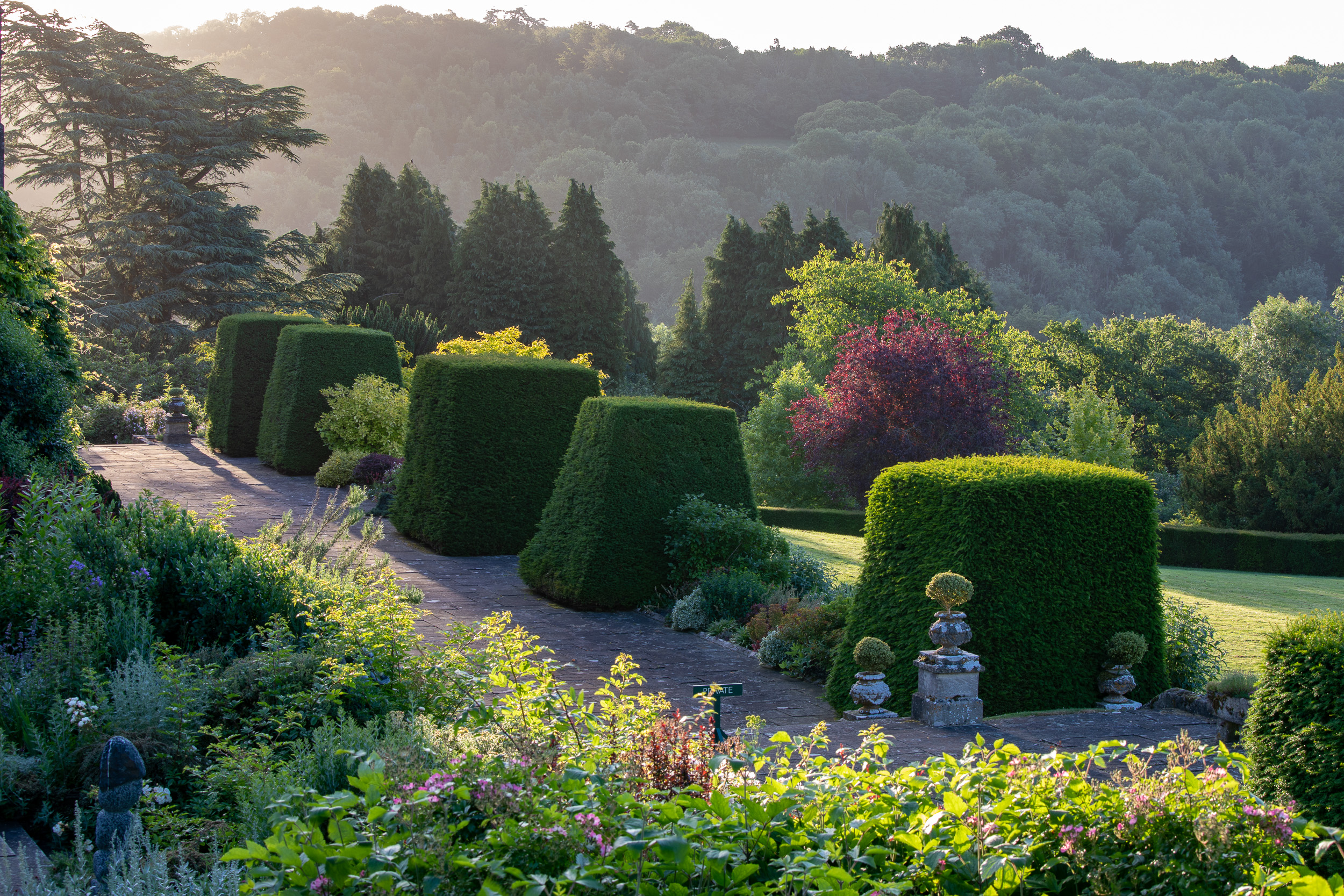 garden photography at Miserden, Gloucestershire