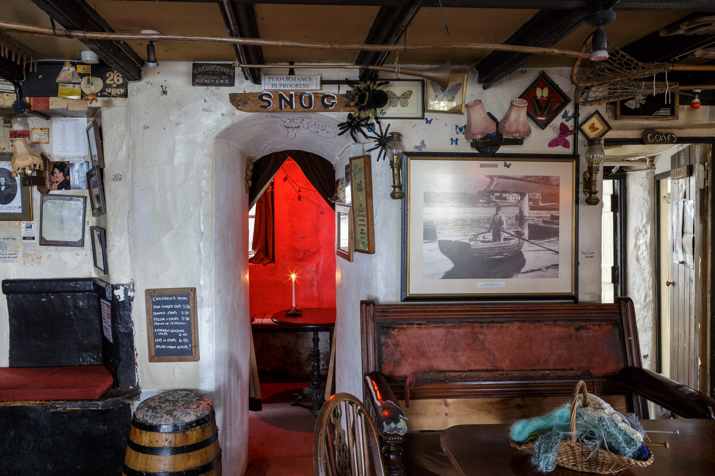 Interior Photography of old pub, the Pigs Nose Inn, East Prawle
