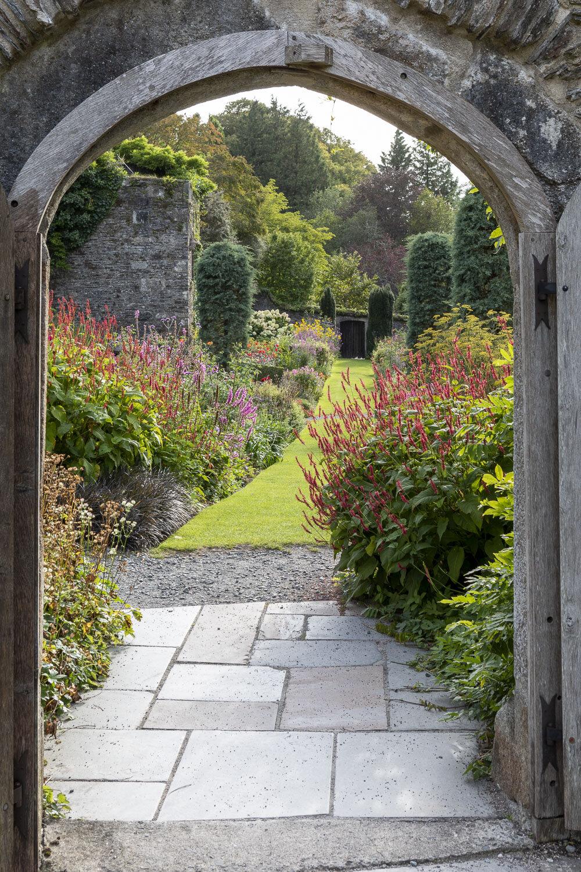 The Garden House, Buckland Monachorum, Devon. Late summer garden.