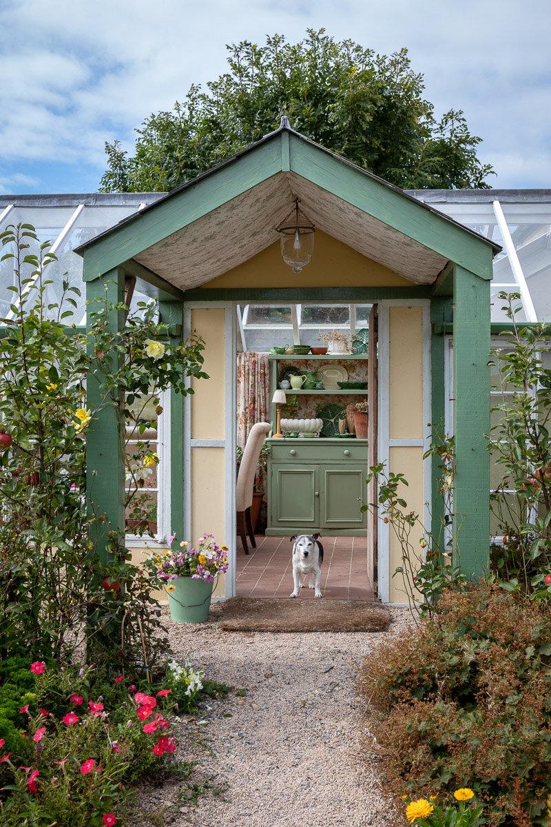 Beth Tarling's garden at Gunwalloe in Cornwall.  Cottage garden in autumn.