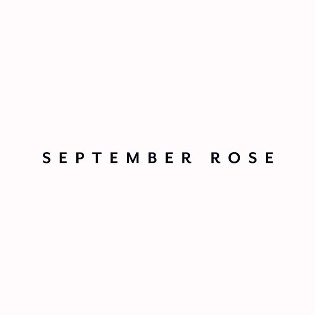 Our new logo - after 3 years of hibernation Samantha has taken the decision to relaunch September Rose. Here is a sneak peak at our new logo...our all new website launches later this month. We have new look but the same values and dedication to design innovation, exquisite quality and sustainability. We have lots of exciting things planned (notebooks and whiteboards full of ideas!) so watch this space! #jewellery #designerjewellery #traceability #sustainability #newlook #newwebsite #relaunch #watchthisspace