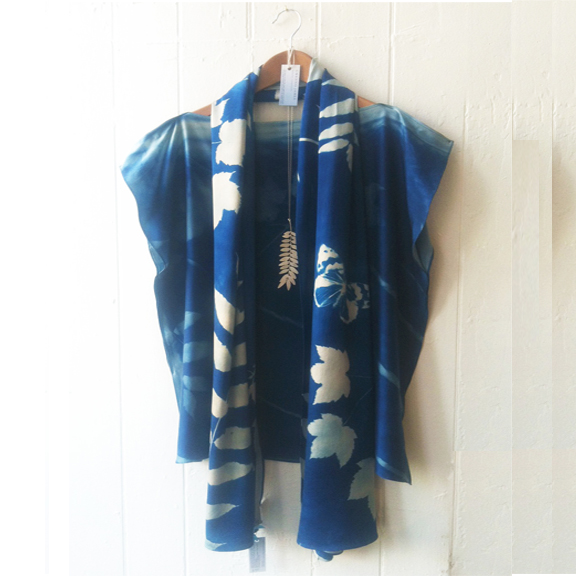 silk top and scarf - necklace by Kit Burke Smith