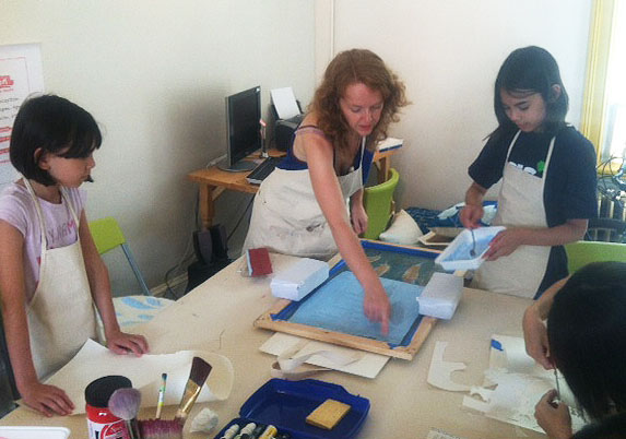 Fabrication silk screen workshop, Beacon
