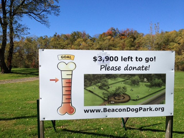 Beacon Dog Park fundraising sign