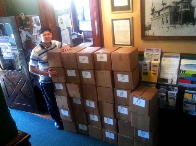 Beacon Centennial Book delivered to the Howland Center
