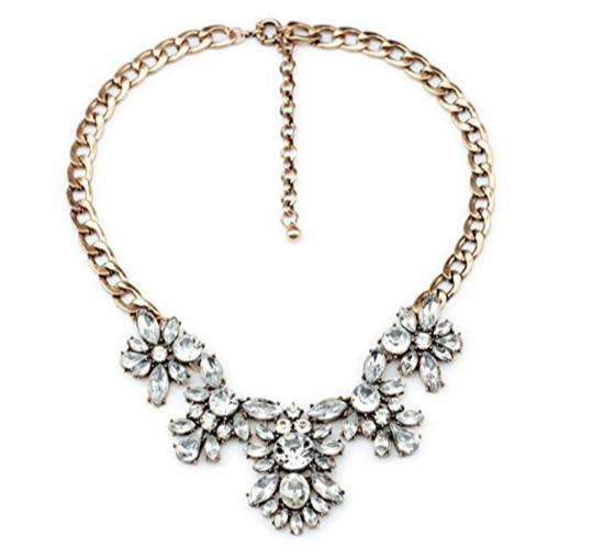 Crystal Statement Necklace $17.99 - Amazon