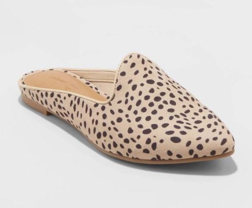 Leopard Mules $24.99 - Target