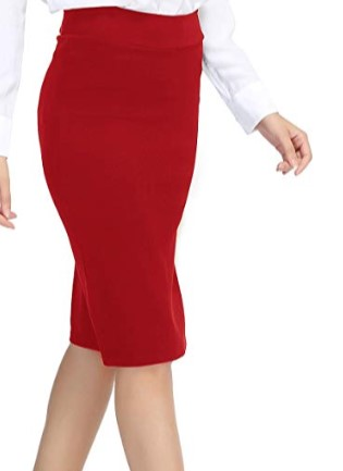 Red Pencil Skirt $17.86 - Amazon Prime