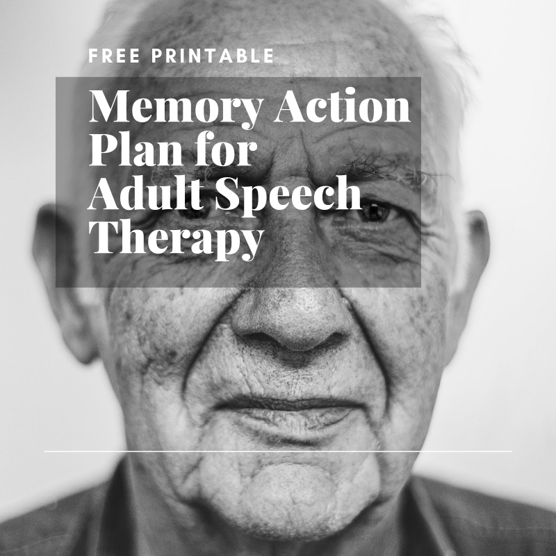 Memory Action Plan for Adult Speech Therapy