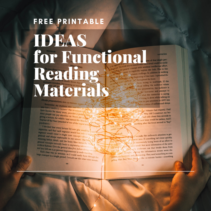 Ideas for Functional Reading Materials