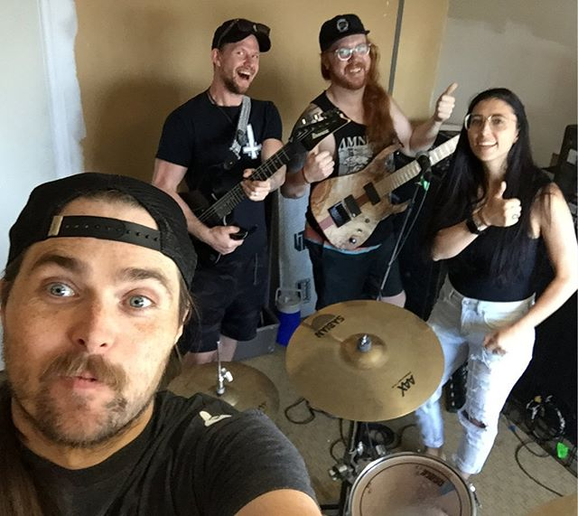 A little surprised the keys to the jamspot still worked tbh 😉. Lots of cobweb dusting going on today but its awesome to get writing again!  #unleashthearchers #vigilantguitars #loscabosdrumsticks #ibanez #outoftheapex